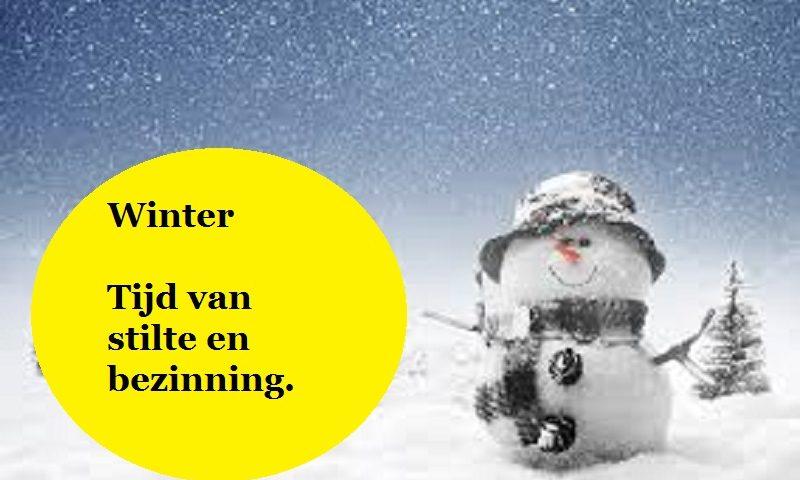 winter, tijd voor bezinning.